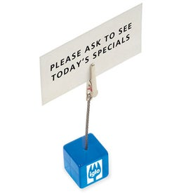 Cube Clip Memo Holder for Advertising