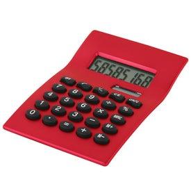 Imprinted Curvaceous Metal Calculator
