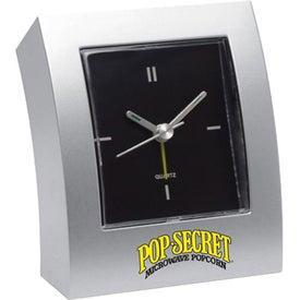 Promotional Curved Analog Desk Clock