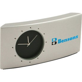 Logo Curved Metal Desk Clock