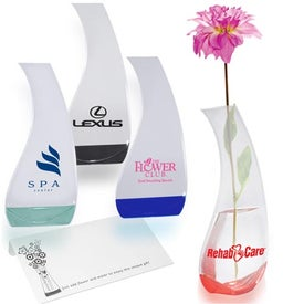 Curvy Bud Flexi-Vase Branded with Your Logo