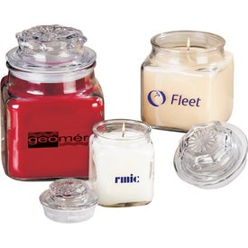 Serenity Candle in Square Glass Jar for Your Company