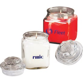 Personalized Serenity Candle in Square Glass Jar