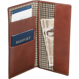 Monogrammed Cutter and Buck Travel Wallet