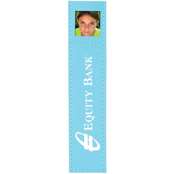 Pastel Blue Deluxe Photo Bookmark