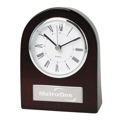 Promotional Wood Desk Clocks with Custom Logo for $27 37 Ea
