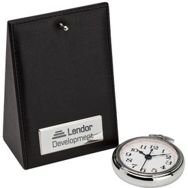 Desk Clock with Your Slogan