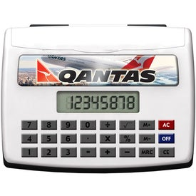 Desktop Calculator With Business Card Holder for Advertising
