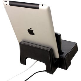 Metropolitan Desktop Charging Station & Stand Branded with Your Logo