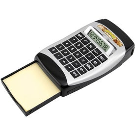 Calculator With Tape Dispenser And Pop-Out Notepad for Your Organization