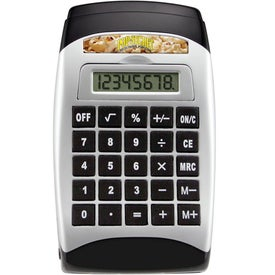 Calculator With Tape Dispenser And Pop-Out Notepad Printed with Your Logo