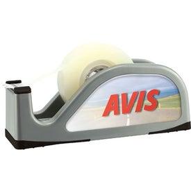 Printed Desktop Tape Dispenser w/ Built In Compartment