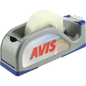 Desktop Tape Dispenser w/ Built In Compartment with Your Slogan