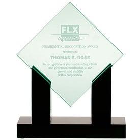 Diamond Jade Award with Black Base for Marketing