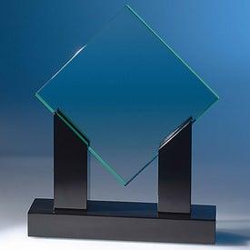 Diamond Jade Award with Black Base for Advertising