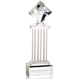 Diamond Pedestal Award Imprinted with Your Logo