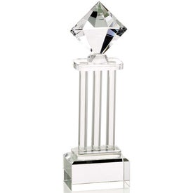 Diamond Pedestal Award Printed with Your Logo