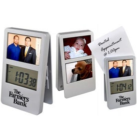 Digital Clock with Frames Imprinted with Your Logo