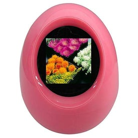 Personalized Digital Photo Frame - Egg Shape