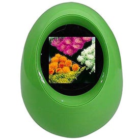 "Digital Photo Frame - Egg Shape (1.5"")"