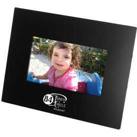 """Black 7"""" LCD Digital Photo Frame with Your Slogan"""
