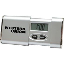 Digital Travel Alarm Clock with Your Slogan