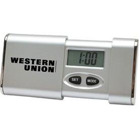 Digital Travel Alarm Clock with Your Slogan