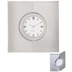 Diviseur Hinged Brushed Desk Clock for Your Company