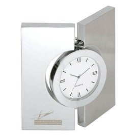 Diviseur Hinged Brushed Desk Clock