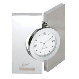 Diviseur Hinged Brushed Desk Clock