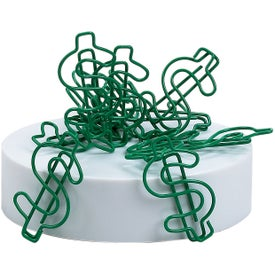 Dollar Clipsters Green with White Base Giveaways