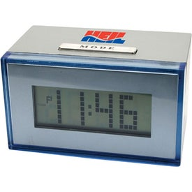 Dot Matrix Multi Function Alarm Clock with Your Slogan