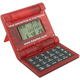 Branded Double Flipper Calculator And World Time Clock