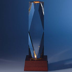 Company Dramatis Award with Lighted Base