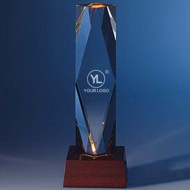 Dramatis Award with Lighted Base