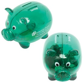 Branded Dual Savings Piggy Bank