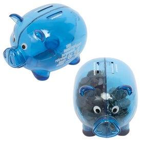 Advertising Dual Savings Piggy Bank