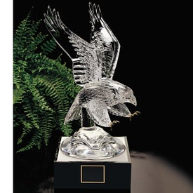 Eagle Award with Lighted Pedestal Imprinted with Your Logo