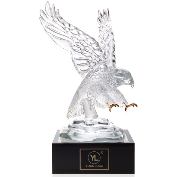 Eagle Award with Lighted Pedestal