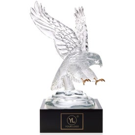 "Eagle Award with Lighted Pedestal (4"")"