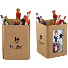 Logo Eco Pen Caddy with Frames