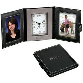 Epoque Travel Clock and 2 Photo Frame