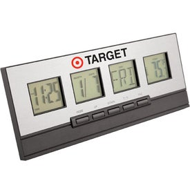 Executive Desktop Alarm Clock Branded with Your Logo