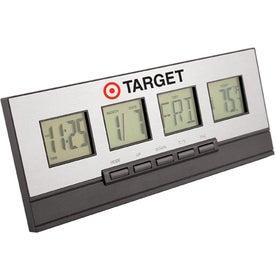 Executive Desktop Alarm Clock Branded with Your Logo