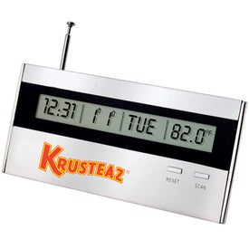 Executive Desk Top Alarm Clock Radio with Your Slogan