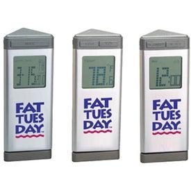 Executive Desktop Multi-Function Digital Alarm Clock Printed with Your Logo