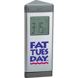 Executive Desktop Multi-Function Digital Alarm Clock with Your Slogan