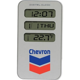 Executive Metal Multi Function Digital Alarm Clock