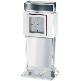 Facette Crystal Desk Clock