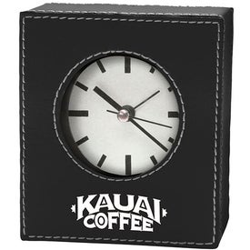 Faux Leather Alarm Clock (Rectangle)